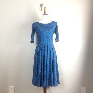 LuLaRoe Nicole 3/4 Length Sleeves Dress